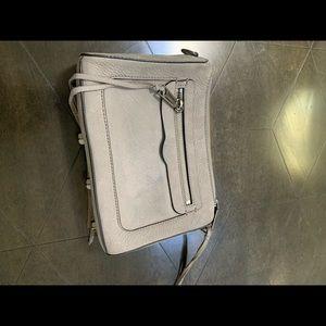 Rebecca Minkoff Bags - Rebecca Minkoff grey suede handbag or clutch.